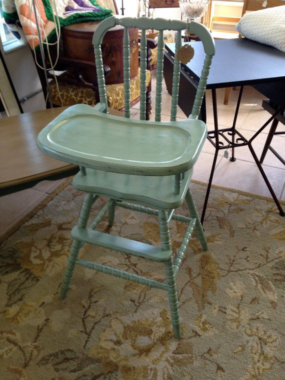 Vintage Jenny Lind Wooden High Chair Wooden high chairs High