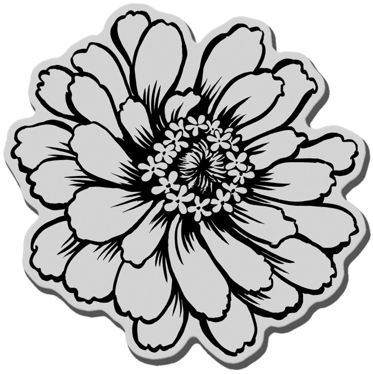 Stampendous Cling Rubber Stamp Zinnia | Stamps I want ...