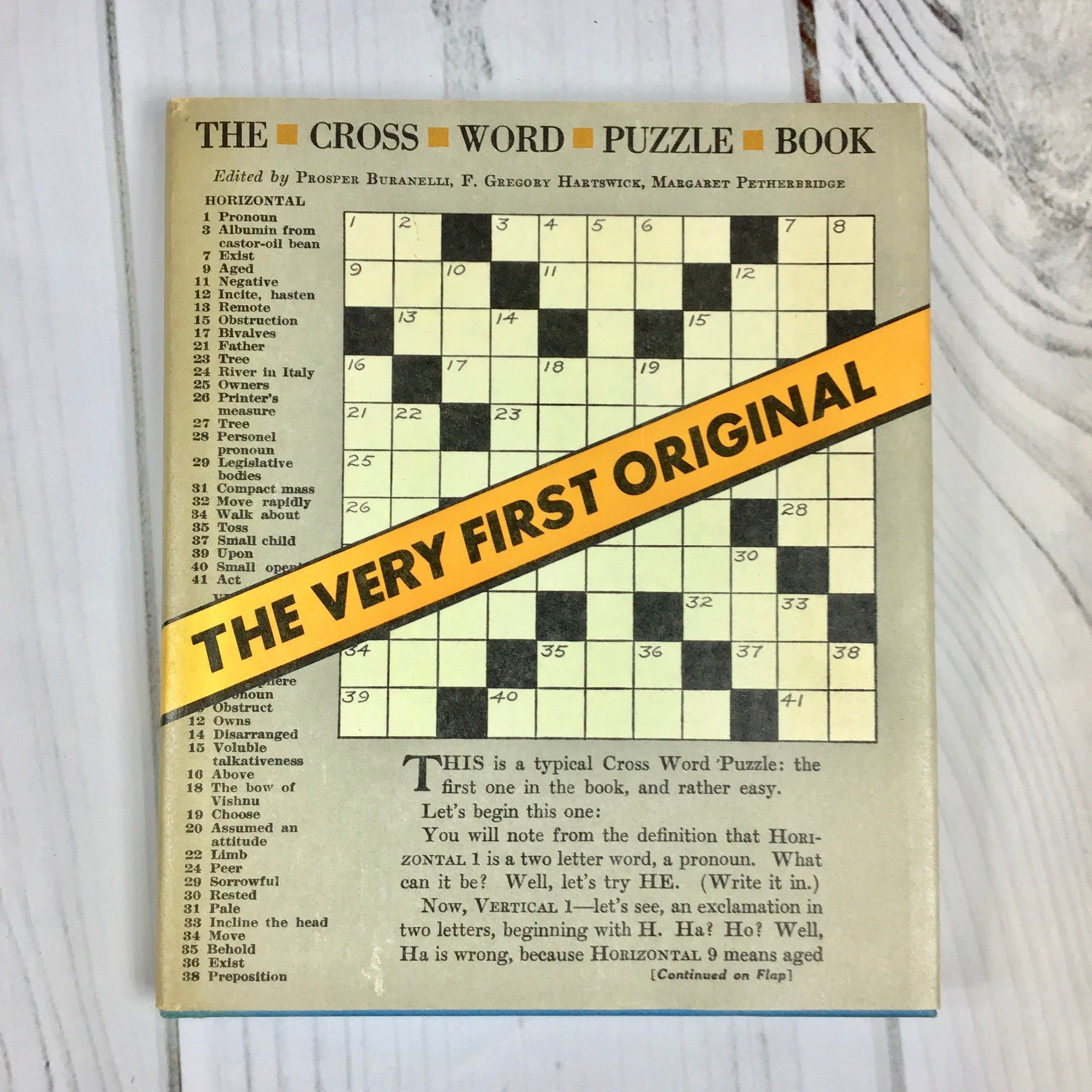 Cross Word Puzzle Book Vintage Originally Printed