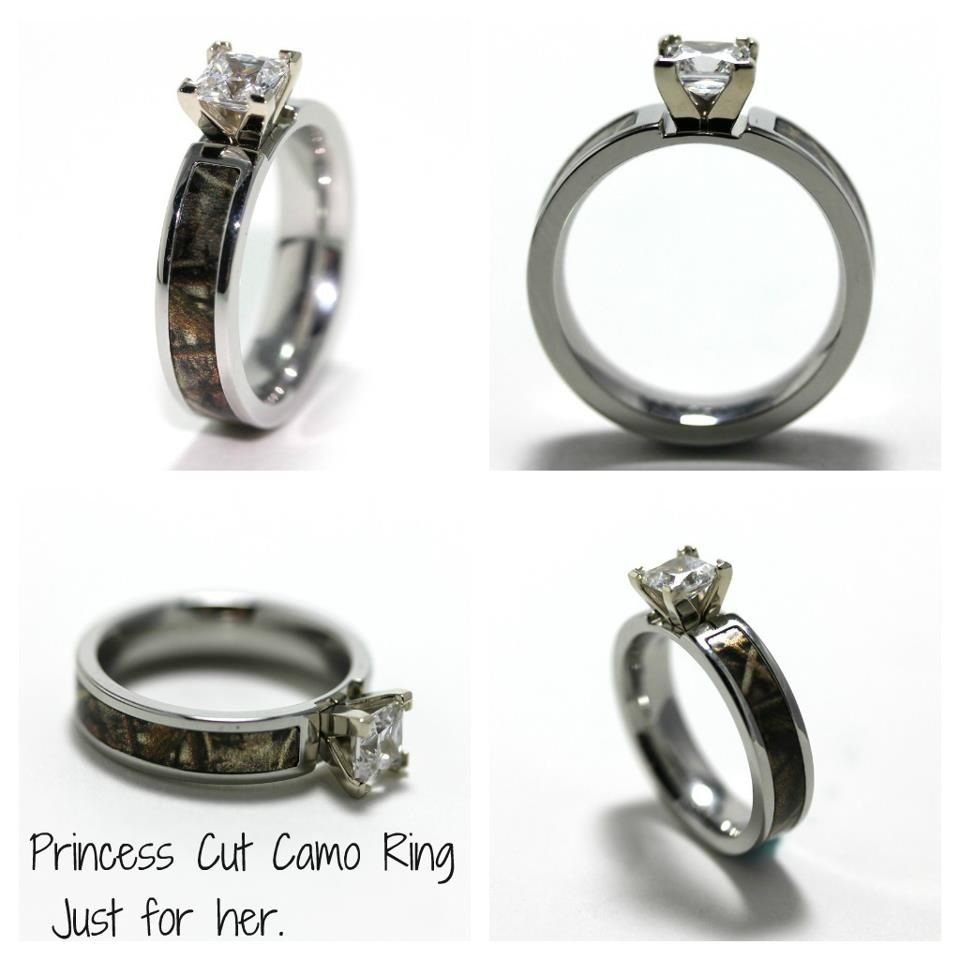 Another camo engagement ring forever pinterest for Camoflauge wedding rings