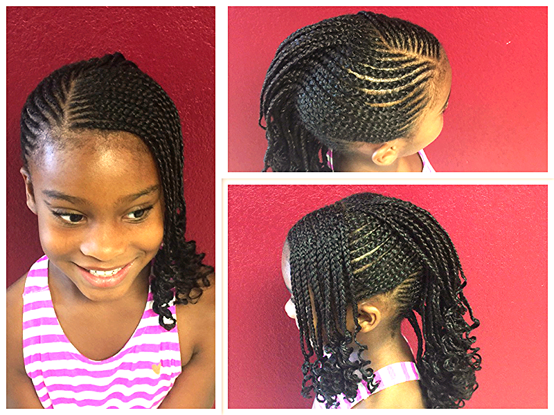 African American Hair Braid Styles: Kids Protective Hairstyles For Black Girls