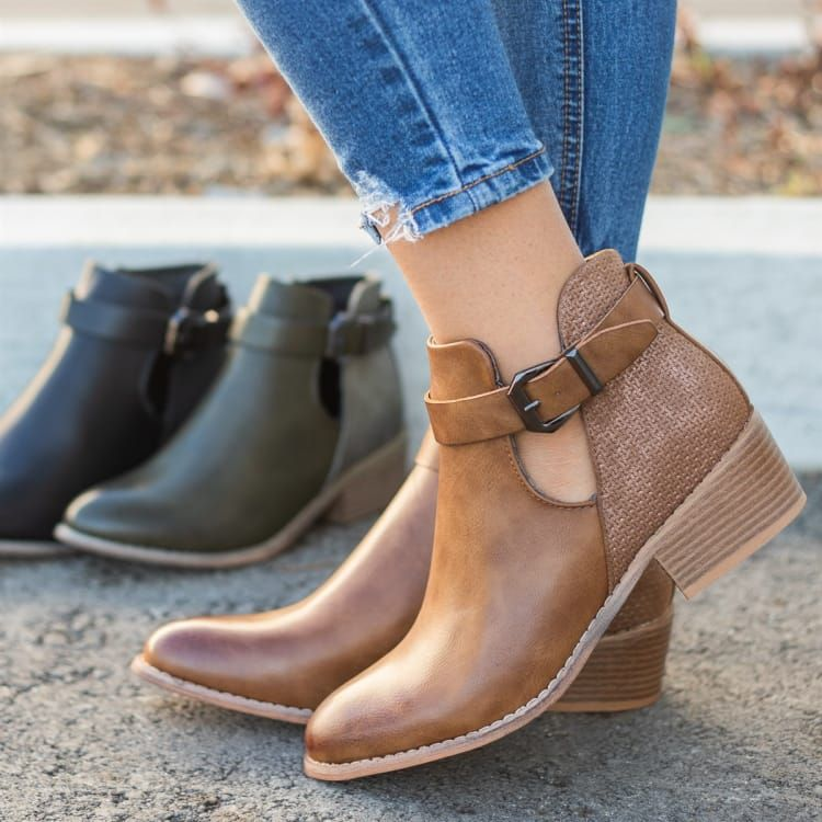 Gorgeous Two Tone Booties