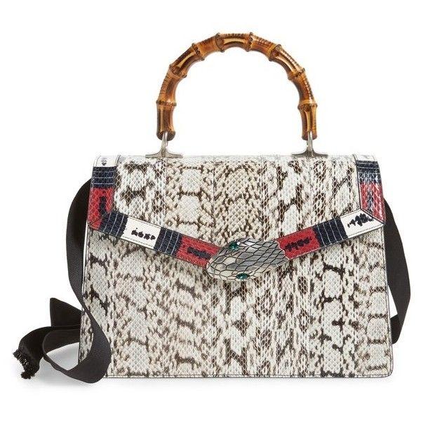 0401d2433e4 Women s Gucci Medium Minerva Genuine Snakeskin Top Handle Bag ...