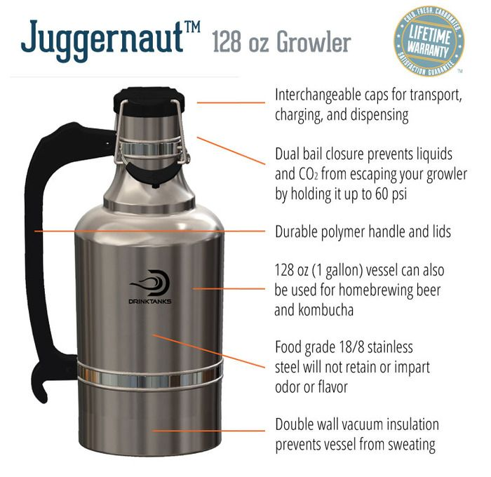 Smoky Mountain Growlers Insulated Stainless Steel All In One 64 Oz Water Bottle Thermo Beer Growler Insulated Stainless Steel Water Bottle Fancy Water Bottles
