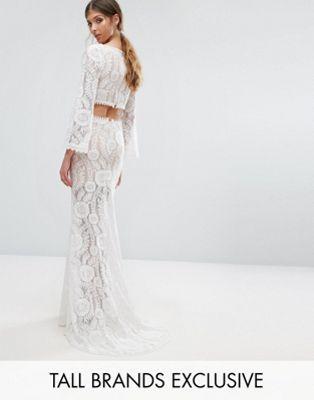 $133   Asos   Jarlo Tall Cutout Back Lace Maxi Dress With Train ...