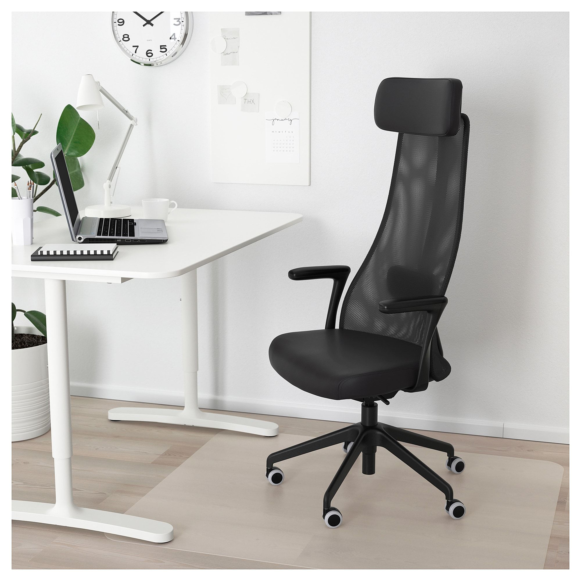 Fine Jarvfjallet Office Chair With Armrests Glose Black Ikea Creativecarmelina Interior Chair Design Creativecarmelinacom