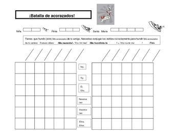 This Is A Template For The SpanishEducation Version Of Battleship