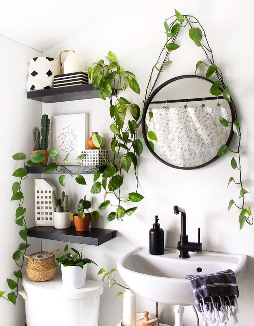 45 Ways To Display Plants In Your Home Small Bathroom Decor Room Decor Home Decor
