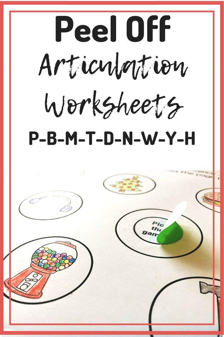 Articulation Activity for Preschool Speech Therapy | Peel ...