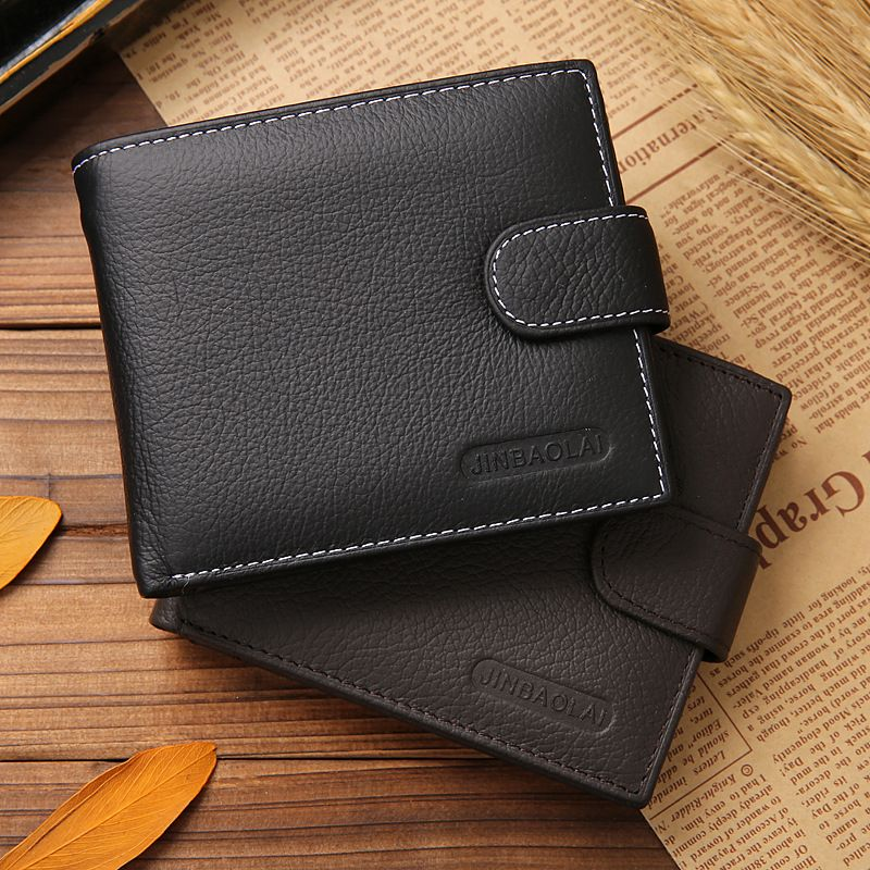 Men Genuine Leather Bags Business Wallet Card Holder Coin Pocket ...