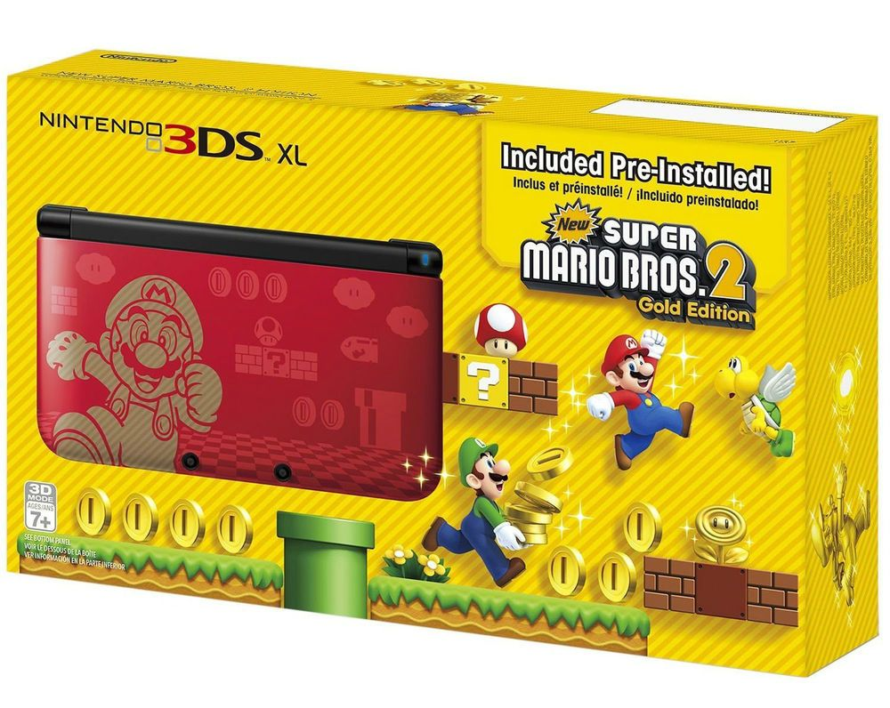 New Nintendo 3ds Xl Super Mario Bros 2 Limited Gold Edition
