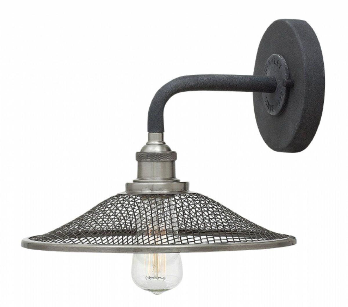 Aged Zinc Finish Medium Bulb