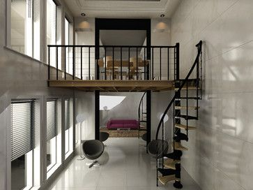 Space Saving Stairs   Contemporary   Staircase   Los Angeles   Stair Lab /  Rintal USA