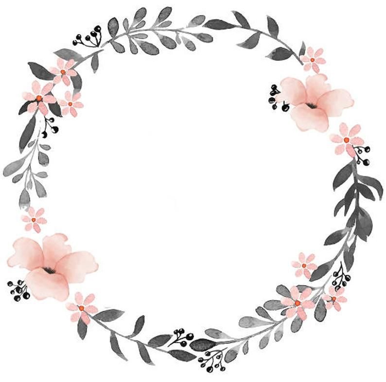 Gray Pink Clipart Watercolor Wreath Watercolor Clipart Minimalist Wreath Wreath Watercolor Flower Doodles Floral Border Design Circle flower wallpaper images