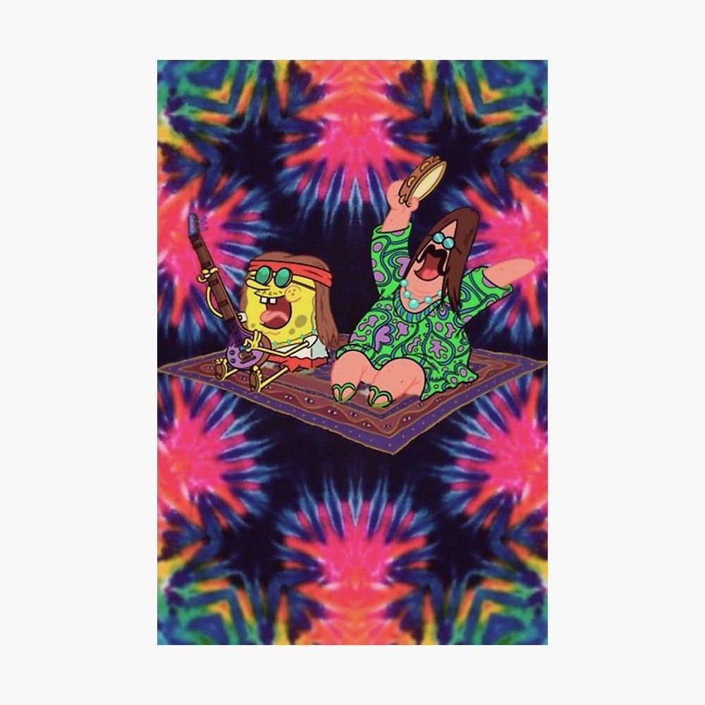 Spongebob Hippie Poster