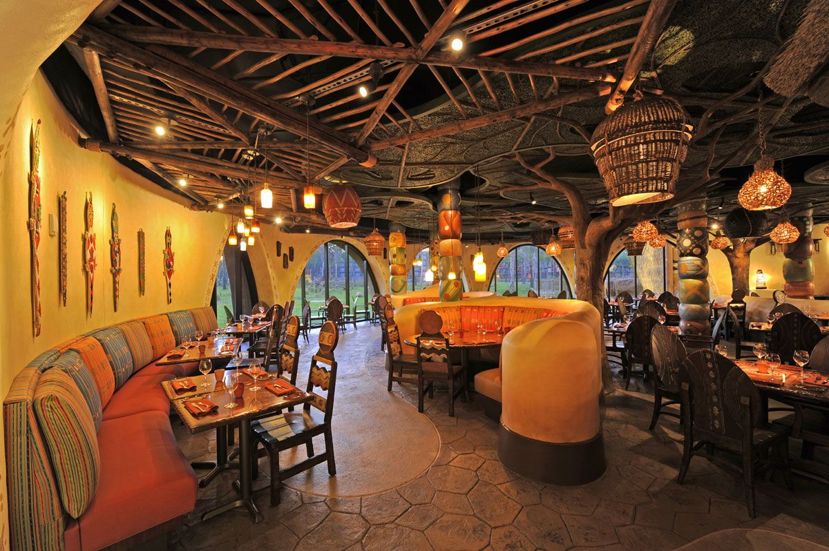 Sanaa in disney world african restaurant design