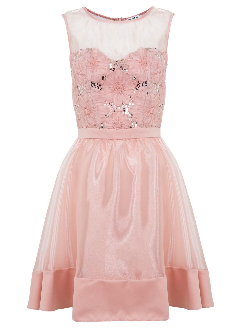 Nude d flower prom dress clothing new in miss selfridge