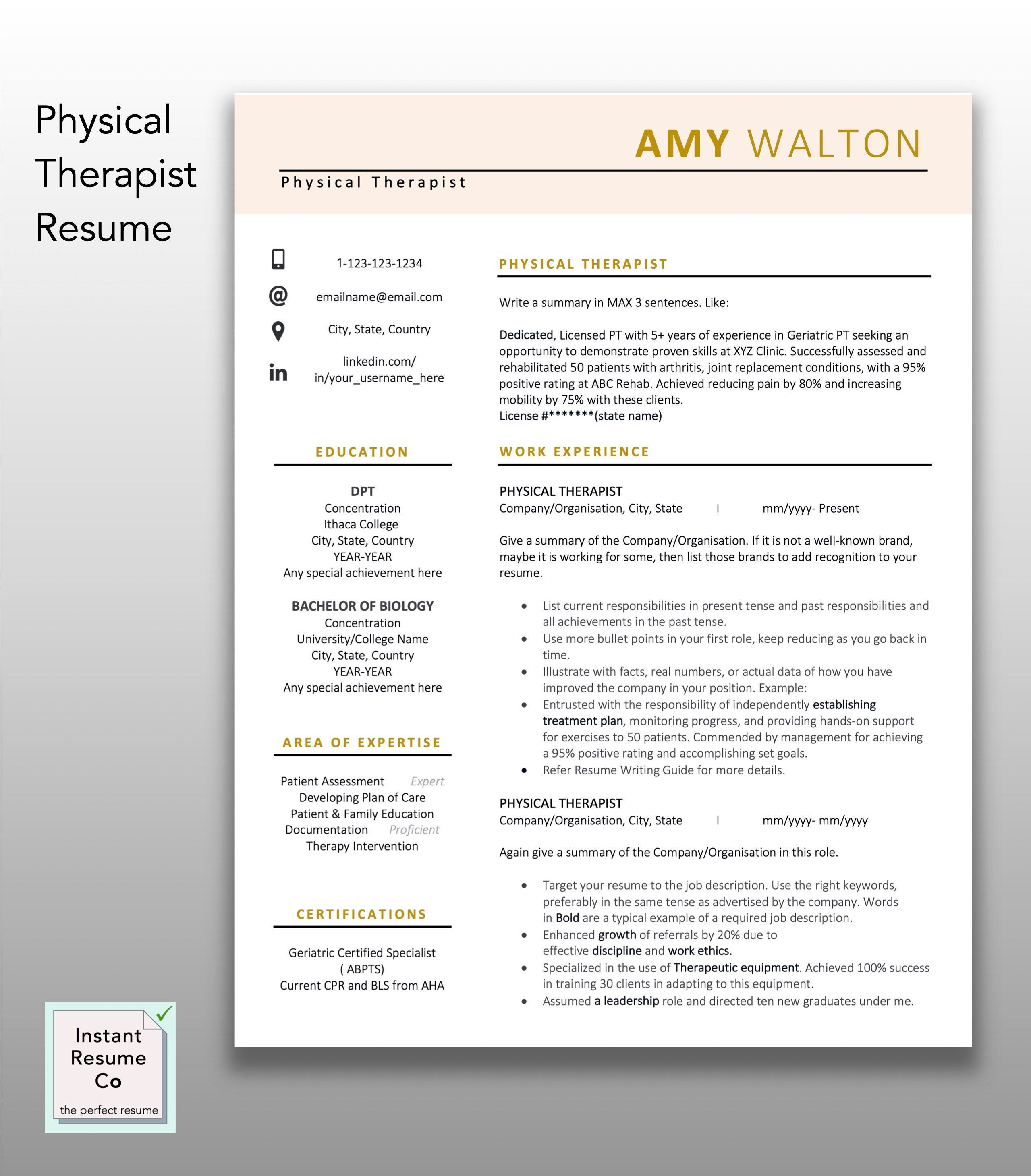 40+ Occupational therapy resume template inspirations