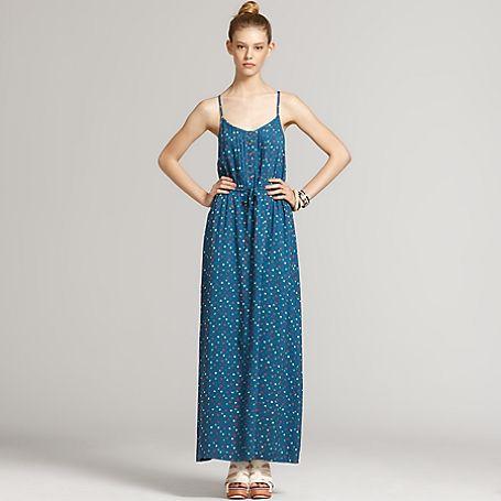 Pintuck Maxi Dress