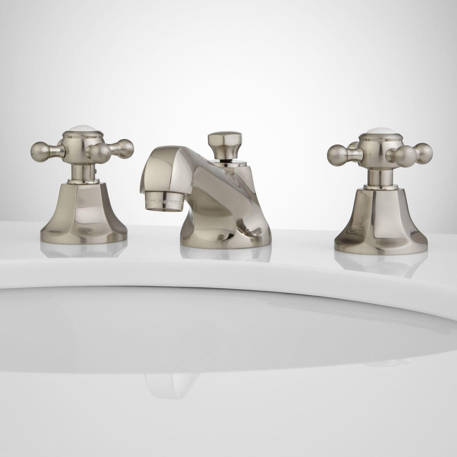 New York Widespread Bathroom Faucet In Contemporary Cross ...