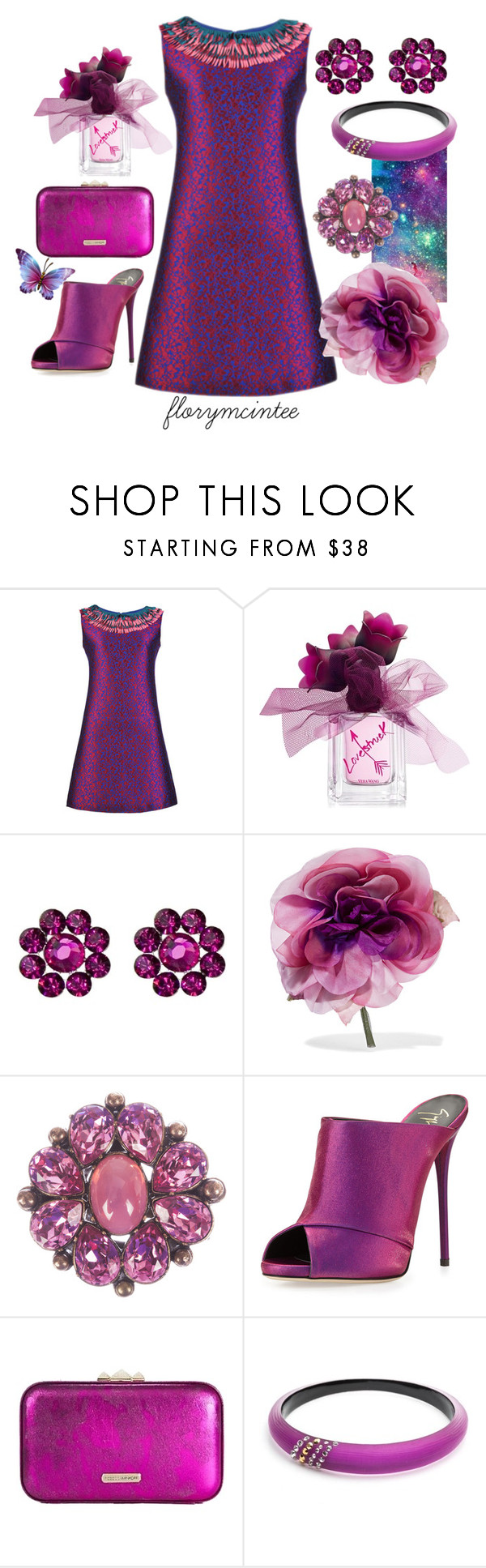 """Purple Passion"" by florymcintee ❤ liked on Polyvore featuring Vera Wang, Tarina Tarantino, Gucci, Christian Dior, Giuseppe Zanotti, Rebecca Minkoff and Alexis Bittar"