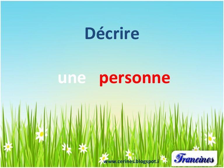 Lexique Pour Dcrire LAspect Physique Et Le Caractre DUne