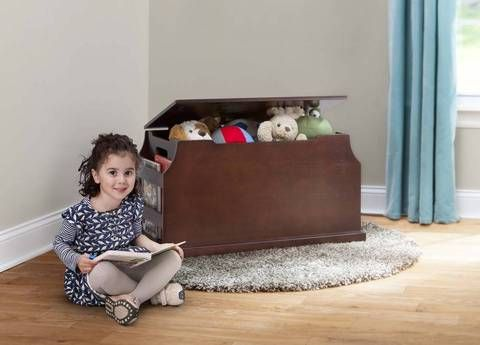 Solutions By Kids R Us Toy Box With Book Storage Espresso 79 99 Toy Boxes Book Racks Babies R Us