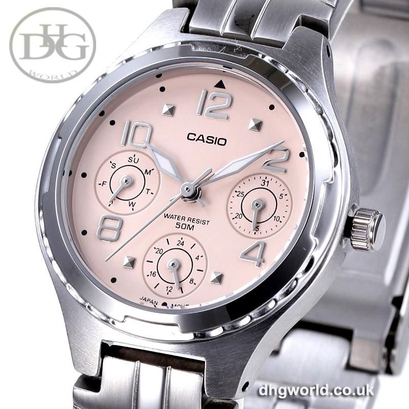 918385f89 Casio LTP-2064 Fashionable Quartz Ladies Watch - Stainless Steel, Water  Resistant (3