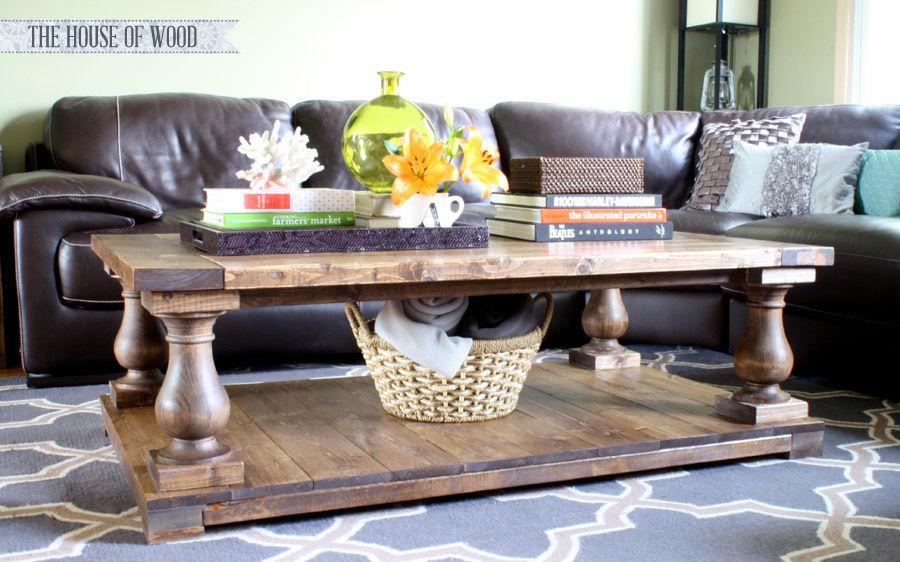 Balustrade coffee table diy furniture easy coffee table