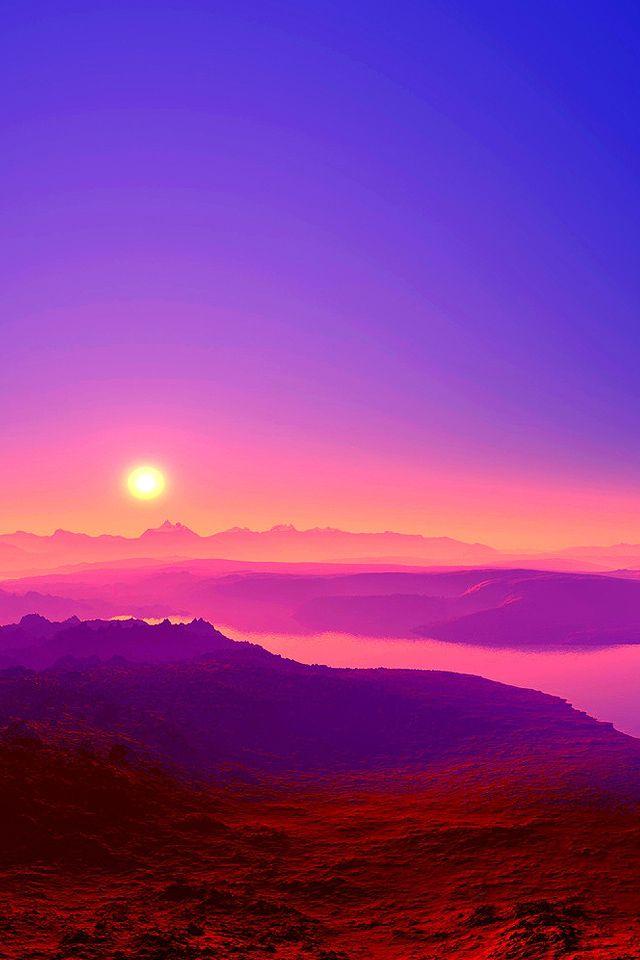colorful sunrise iphone wallpaper