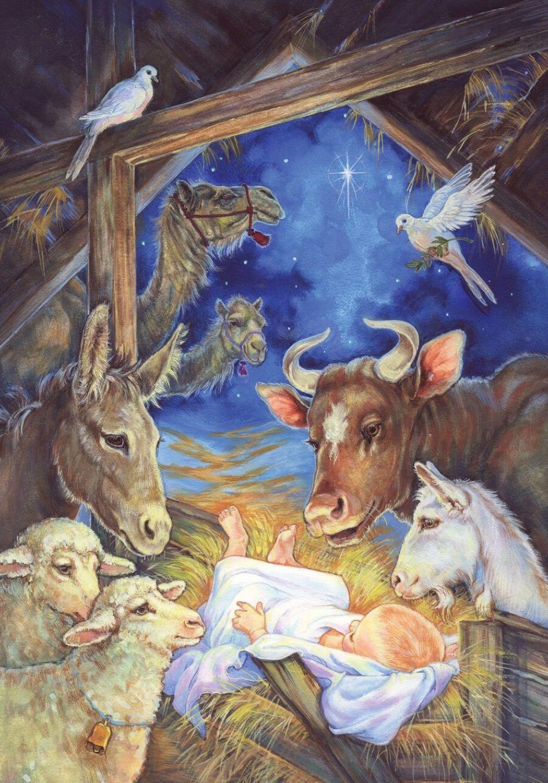 12.99 Christ Is Born Christmas House Flag Nativity