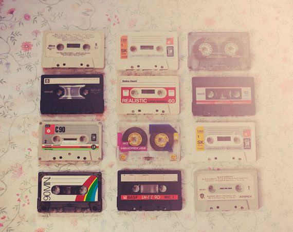 Still Life Photography Vintage Cassette Mixed Tape Photo Hipster Retro Music Room Print Decor Whimsi Retro Music Room Vintage Photography Hipster Photography