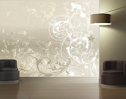 Mustertapete Selbstklebend Perlmutt Ornament Design Foto