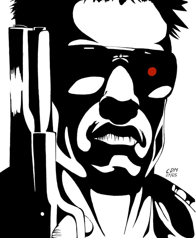 The Terminator Cartoon Drawings Marvel Comics Drawing Art