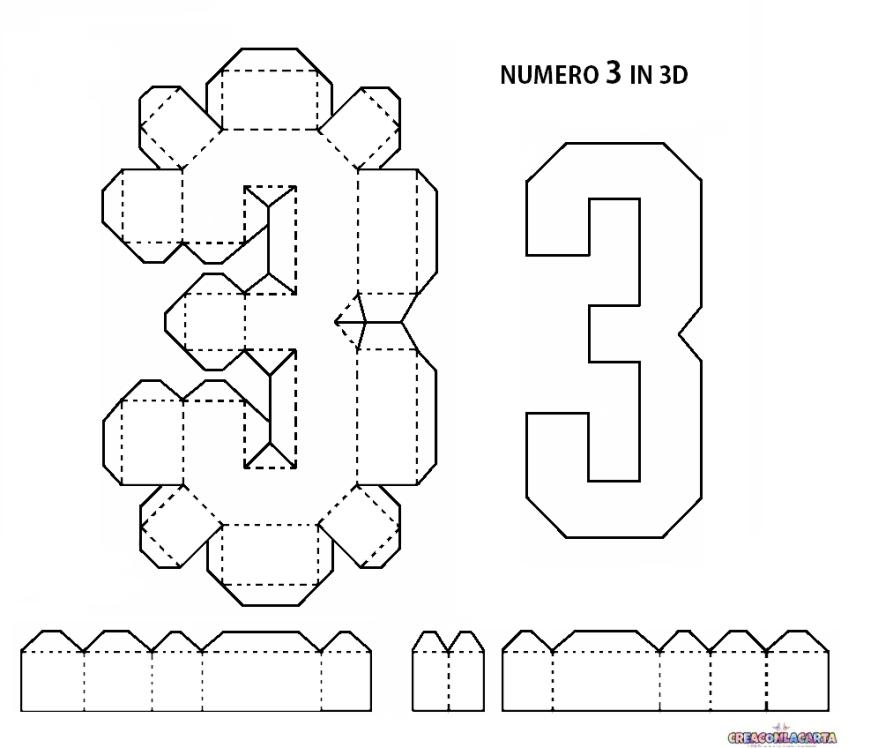 Lettere Dell Alfabeto E Numeri In 3d Fai Da Te Paper Crafts Diy Tutorials Paper Crafts Diy Happy Birthday Signs