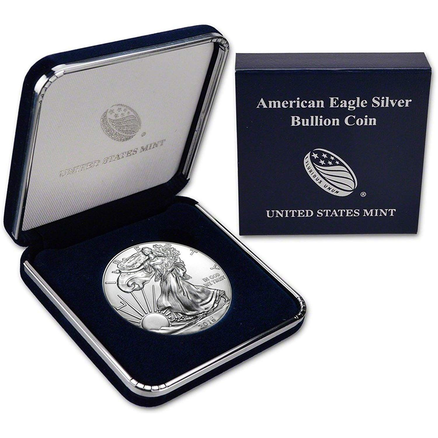 1972 S SILVER SILVER IKE IN OGP-FIXED PRICE WITH SHIPPING INCLUDED