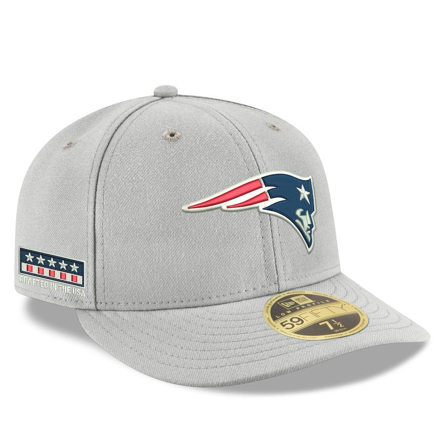7a3b28669335f2 Men's New England Patriots New Era Gray Crafted in the USA Low Profile 59FIFTY  Fitted Hat, Your Price: $39.99
