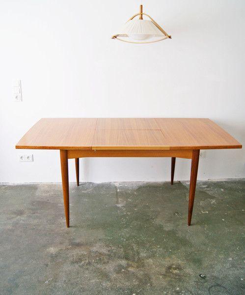 Vintage Tische 60er Jahre Esstisch Teak Ein Designerstück Von