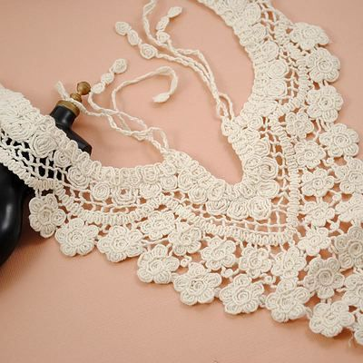 Stick Neckties Lace Ivory Crochet Lace Grape-shaped Applique 11.81'' height #wholeport #craft #handmade#$2.59