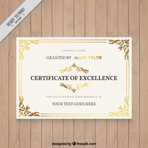 Elegant diploma with ornamental details Free Vector Graphic Design - new certificate vector free