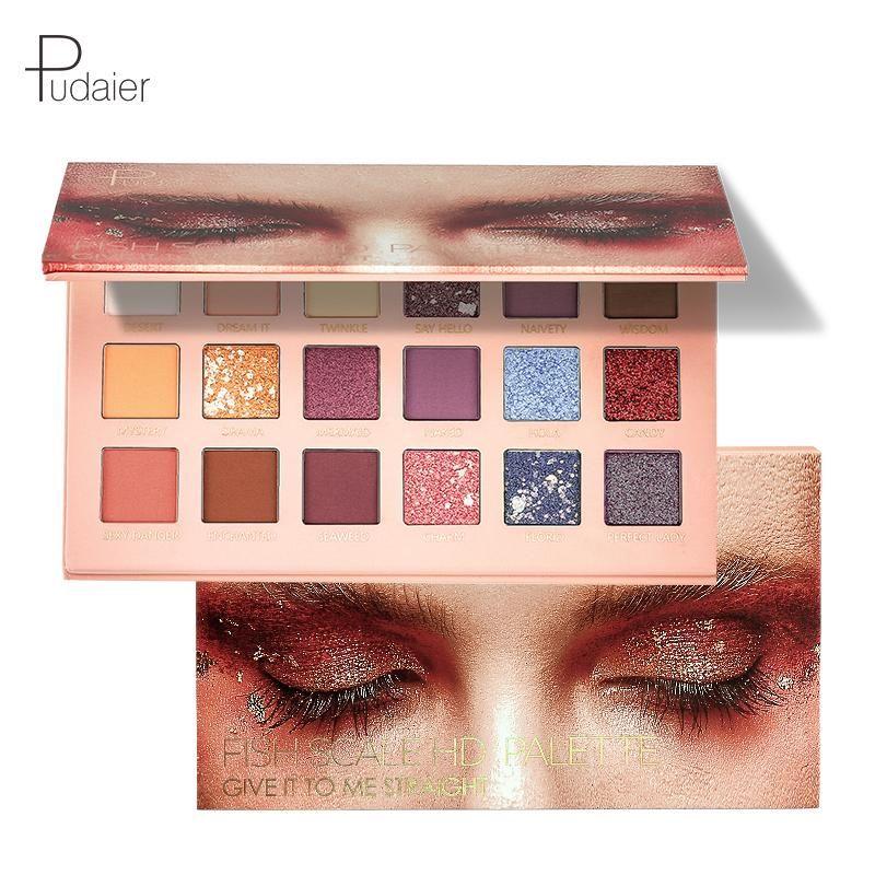 Paleta de sombras de ojos Fish Scale HD  – Maquillaje
