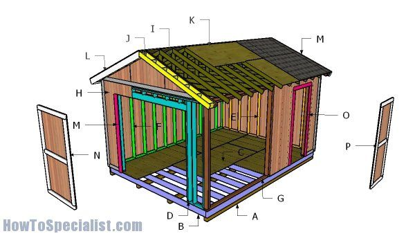 Free 12×16 Garden Shed Plans | House: Shed | Shed plans