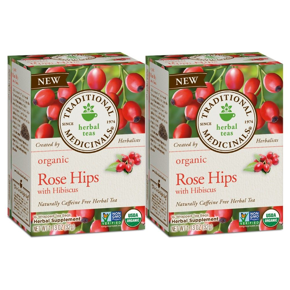 Traditional Medicinals Rose Hips With Hibiscus Organic Tea 32ct