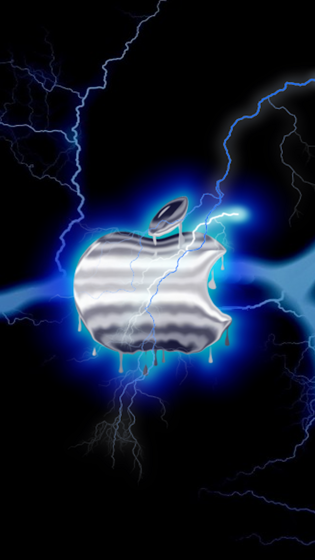 Apple Blue Lightning Apple Iphone 5s Hd Wallpapers Available For