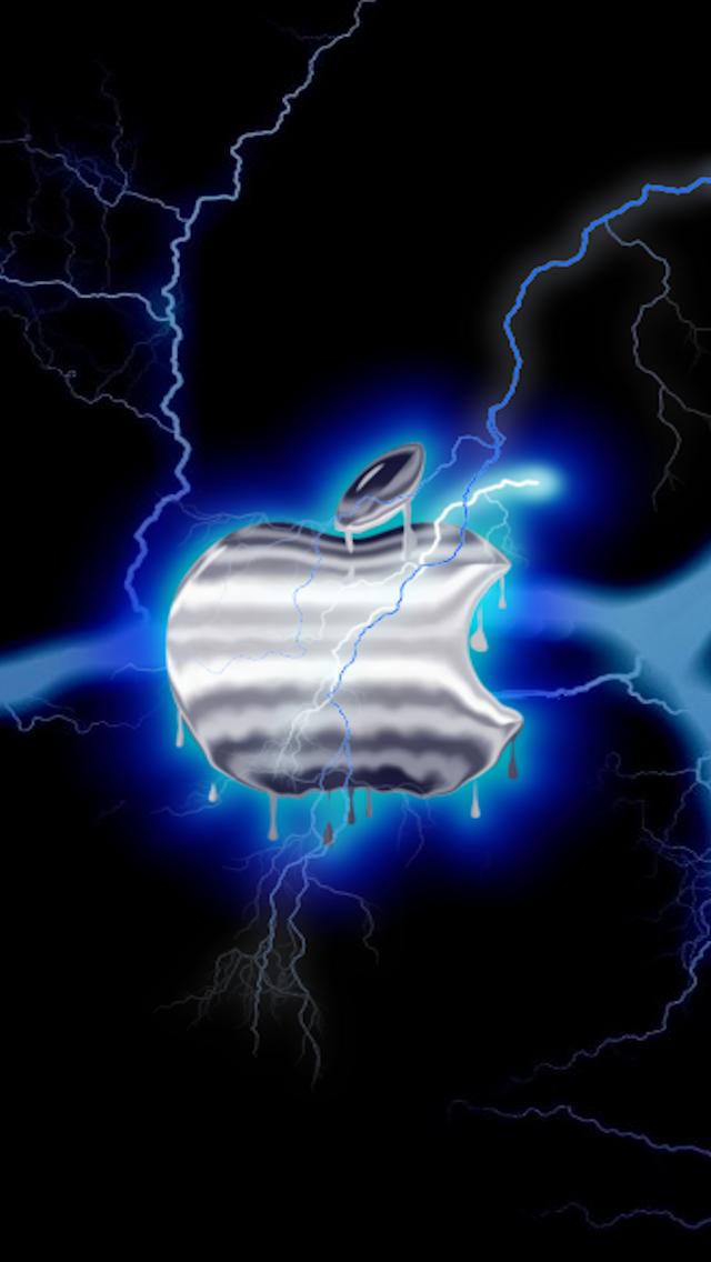 Pin By Brooke Keener Vanzyl On Apple Logo In 2020 Dark Wallpaper Iphone Blue Lightning Apple Wallpaper Iphone