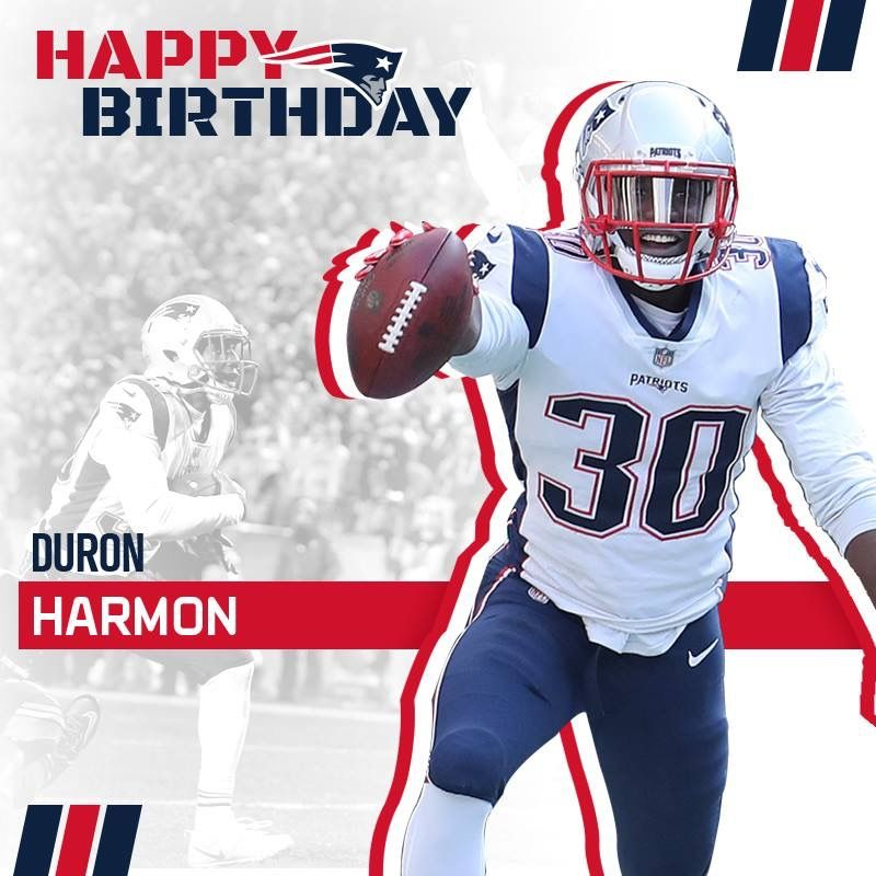 Happy Birthday Duron Harmon #DB #ItsYourDay #Celebrate