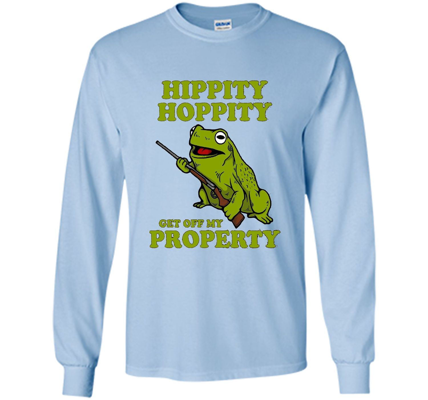 d9a775d8d86306e1a67ef595b140797b hippity hoppity get off my property t shirt frog meme products