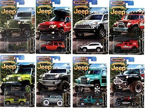 2016 Matchbox Jeep Anniversary Edition Jeep Set Of 8 Cars Jeep