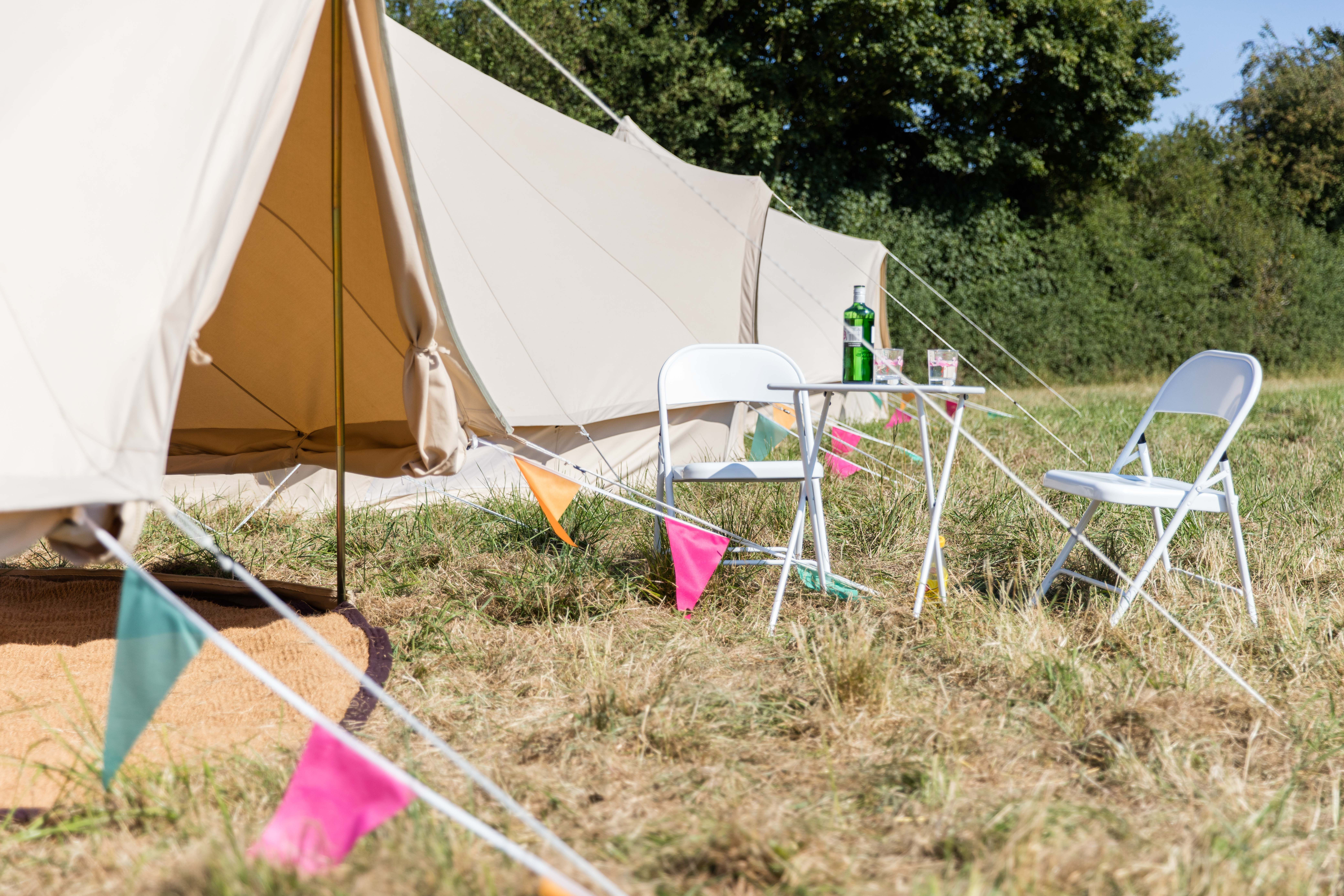 We've rolled up the sides on this Bell Tent giving the