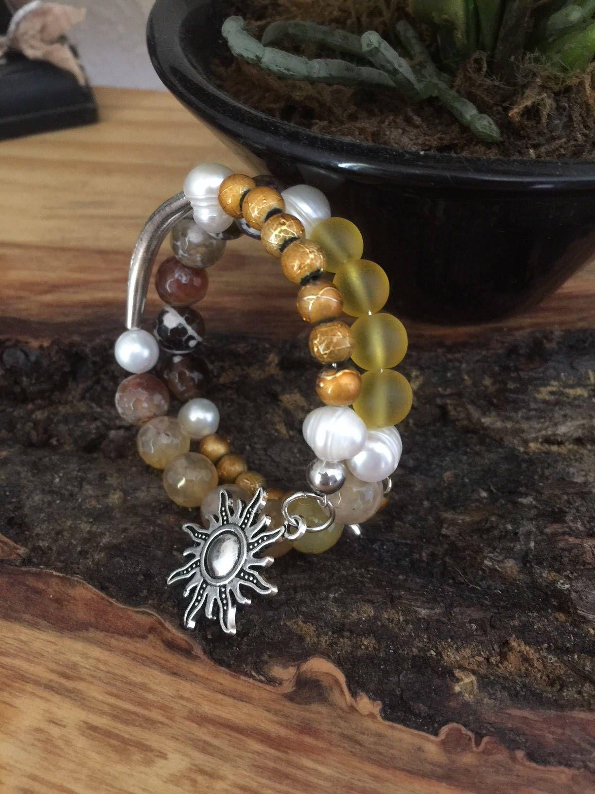 Beaded bohemian bracelet vintage bracelet memory wire bracelet